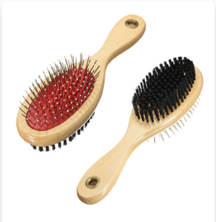 Double Sided Grooming Brush.